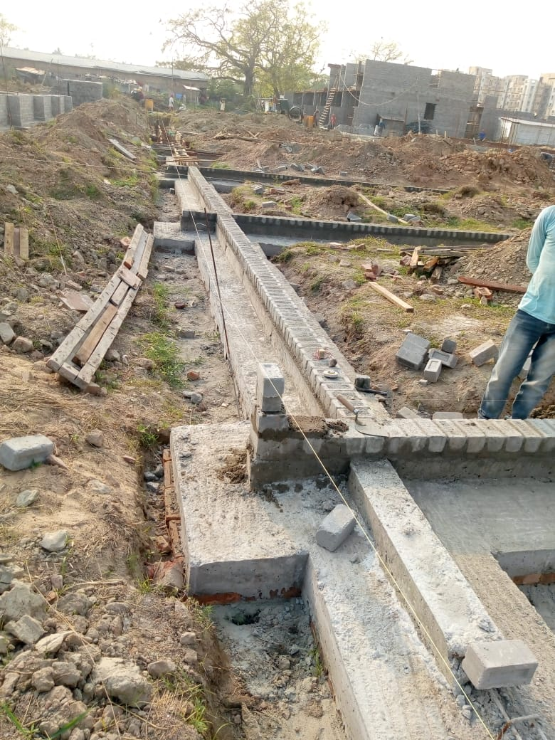 CLUSTER 23 (BUNGALOW NO. 138-147) :  Foundation has been completed as on 31/03/2020