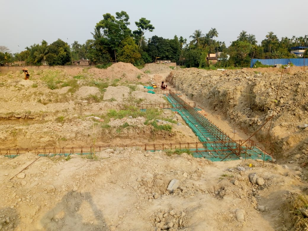 CLUSTER 29 (BUNGALOW NO. 101-106) : Foundation work in progress as on 31/03/2020