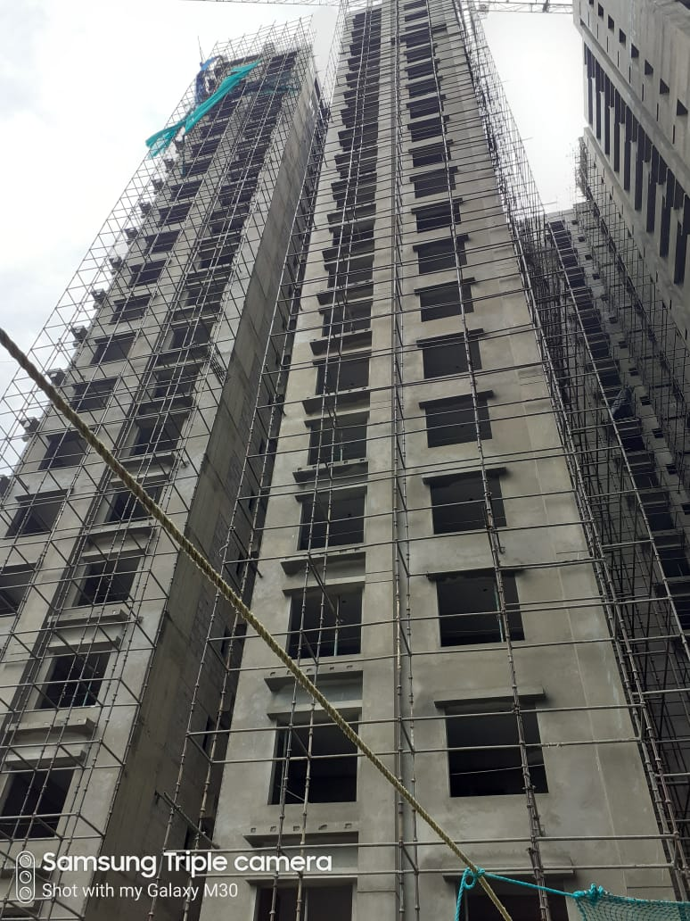 Block 4: Above roof structure work is in progress; 24th block work (AAC) is in progress; Internal plaster, Electrical work & Plumbing work of 23rd floor is completed; 17th floor fire work & 50% Elevation work completed as on 1/07/2020
