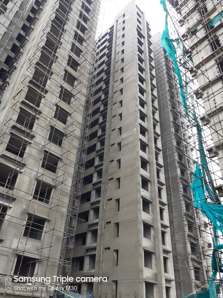 Block 3:  Above roof structure work is in progress; 24th block work (AAC) completed; Internal plaster, Electrical work & Plumbing work of 23rd floor is completed;  19th floor fire work & 50% of Elevation work is completed as on 1/7