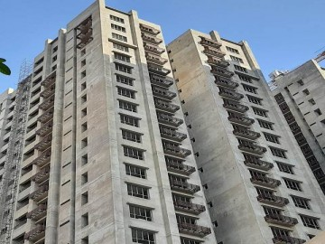 BLOCK-4:  Structural Work –Above roof in progress, Blockwork(internal)- completed, Door frame fixing –completed, Plaster (internal)-  completed, Pop-putty (ceiling)-completed, Electrical work (chasecu