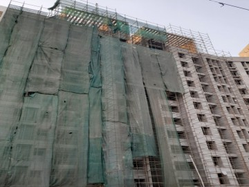 Block 2 : Above roof  structural work is Completed, External plaster is going on as on 28.02.2021