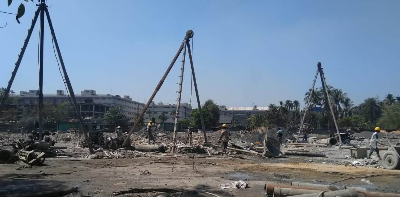 BLOCK-1: Total 631 nos of Pile work out of 1189 is completed as of 28.2.2021