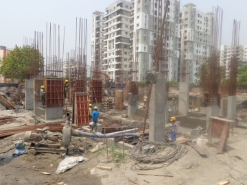 Block 28: Piling is completed,Foundation Work is Running as on 1.04.2021.