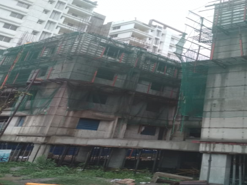 Block 40: 5th  floor slab casting  of block no 40   has been completed as on 12.05 2021