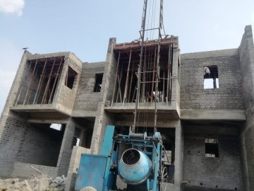 Row House no. 49 and 50:  roof slab casting of row house no. 49 and 50 have been completed as on 03.06.2021