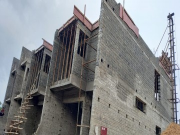 roof slab casting of row house no. 51 and 52 have been completed as on 15.06.2021